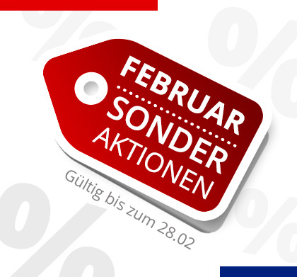Sonder Aktionen bis Februar 2017
