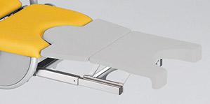 Beinplatte, grau mit Zwischenpolster