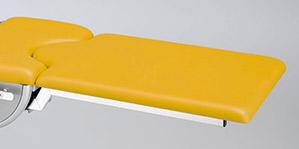 Beinplatte mit Kunstlederbezug